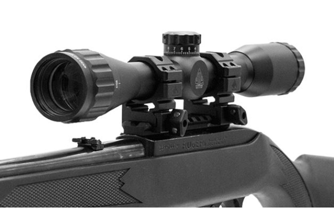 "SCP-U432AOWT2 TG 4X32 1"" True Hunter Scope, AO, TF2+, Mil-dot, w/ Rings (LEAPKD_SCP-U432AOWT2)"