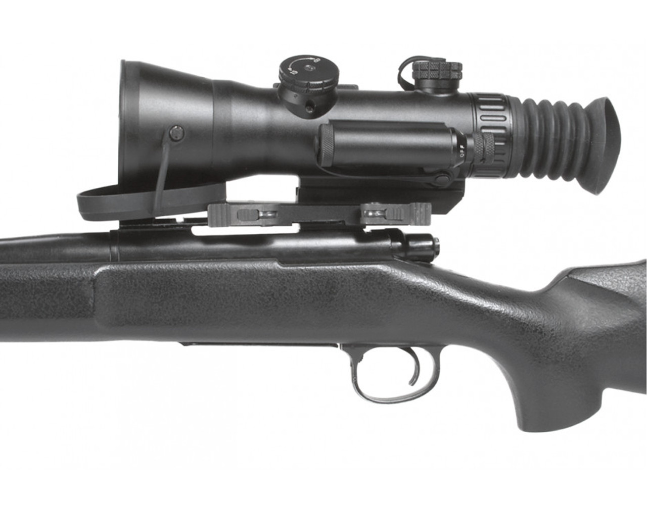 """AGM Wolverine-4 NL2 Night Vision Rifle Scope 4x Gen 2+ """"Level 2"""" with Sioux850 Long-Range Infrared Illuminator (AGM Wolverine-4 NL2)"""