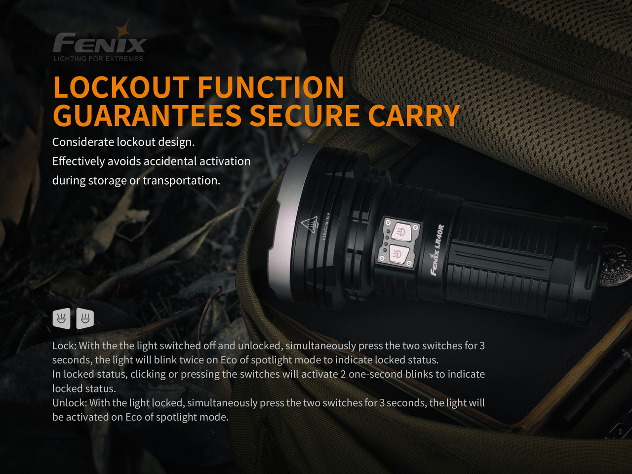 Fenix LR40R 12,000 Lumen High Performance Rechargable Search Light (LR40R)