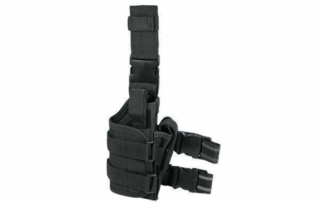 UTG Extreme Ops Tactical Thigh Holster, Right Handed, Black PVC-H188B