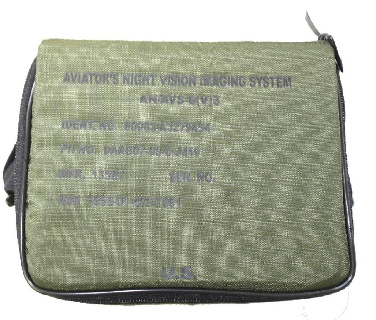 (LOT OF 6) PADDED CASES FOR AN/AVS-6(V)3 WITH FOAM INSERT FOR AN/AVS NVDS