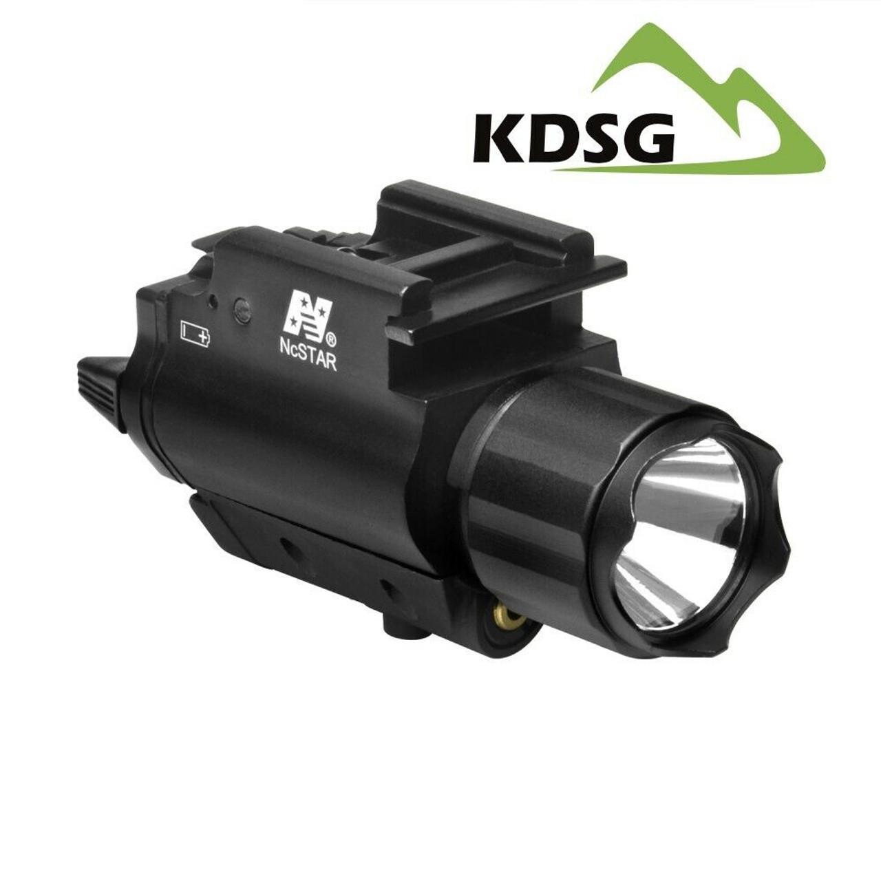 NcSTAR AQPFLSG 3W Ultra Bright 200 Lumen CREE® LED flashlight and Green Laser