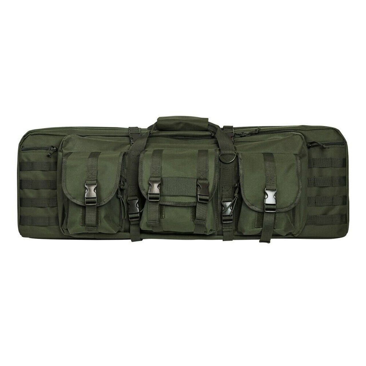 NcSTAR CVDC2946G-36 Tactical Double Rifle Case Green 36 inch long Padded Molle