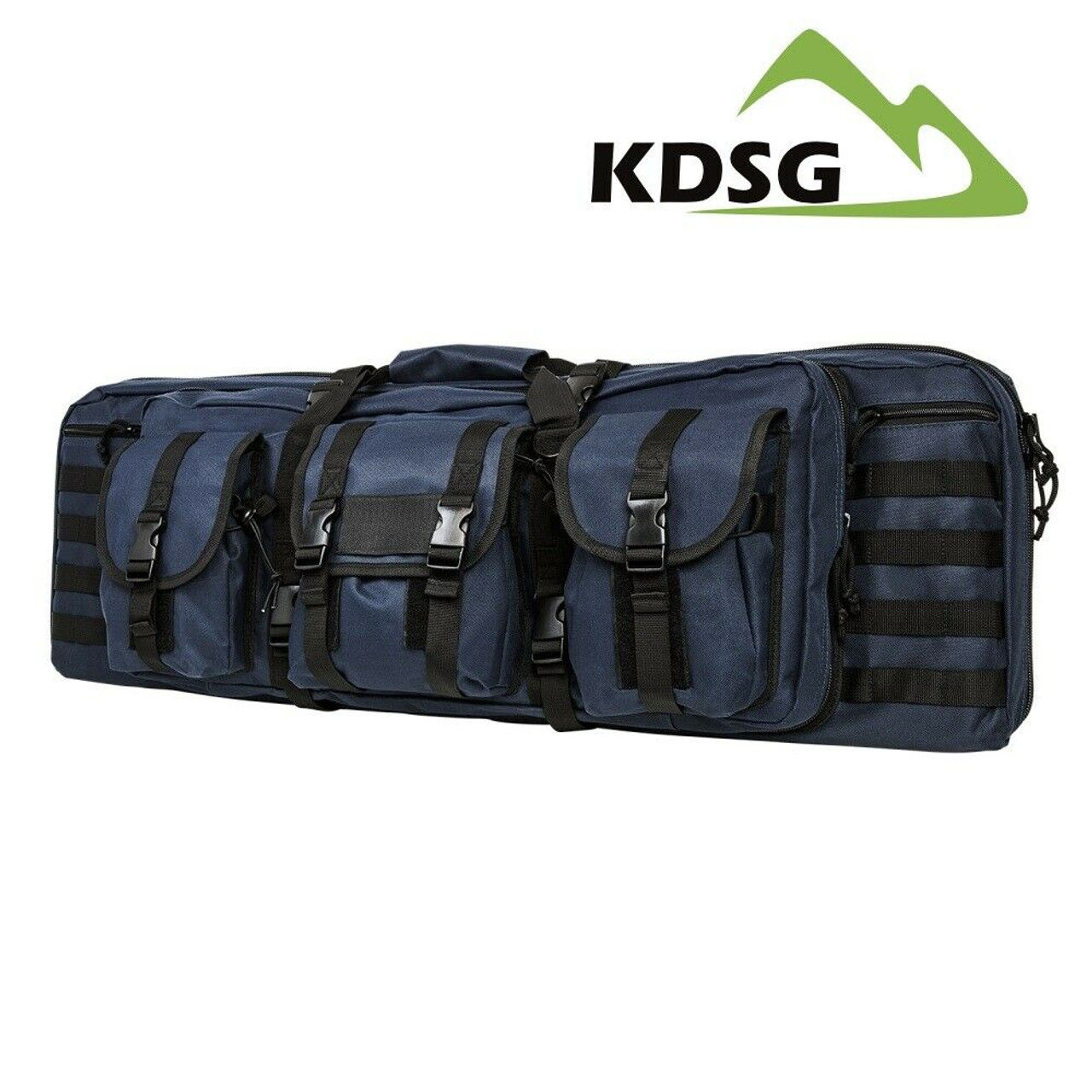 NcSTAR CVDC2946BL-36 Tactical Double Rifle Case Blue 36 inch long Padded Molle