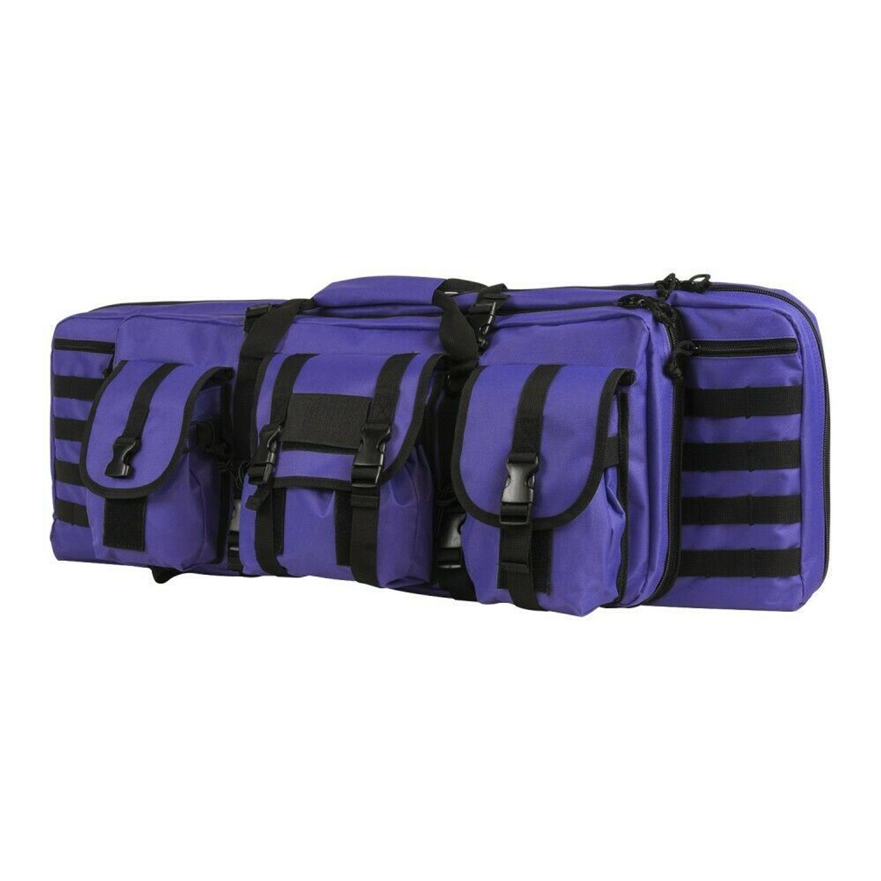 NcSTAR CVDC2946PR-36 Tactical Double Rifle Case Purple 36 inch  Padded Molle