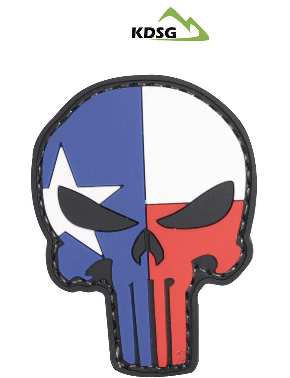 """Five Star Gear PVC Morale Patch Style 6655 TEXAS PUNISHER size 1.75"""" x 2.25"""""""
