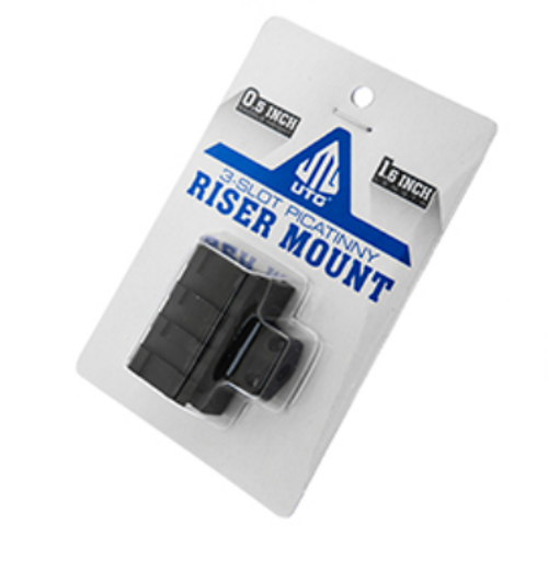 """UTG Low-Profile Compact Riser Mount, 0.5"""" High, 3 Slots (LEAPKDMNT-RS05S3)"""