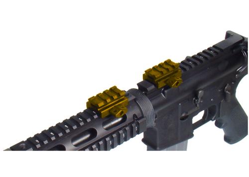 """UTG Med-pro Compact Riser Mount, 0.83"""" High, 3 Slots (LEAPKDMNT-RS08S3)"""