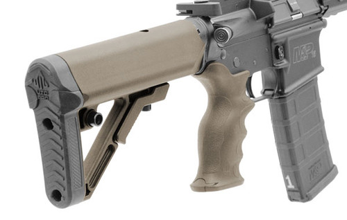 UTG PRO AR15 Ops Ready S1 Commercial-spec Stock Kit, FDE (LEAPKDRBUS1DC)