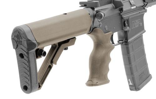 UTG PRO AR15 Ops Ready S1 Commercial-spec Stock Kit, FDE (LEAPKDRBUS1DC)
