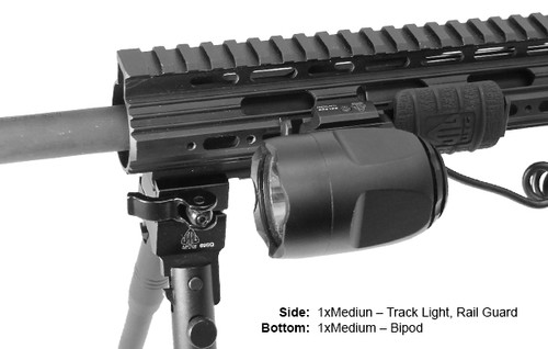 UTG PRO® Rail for Super Slim Free Float Handguard, 10 Slots (LEAPERKDMTURS02M)