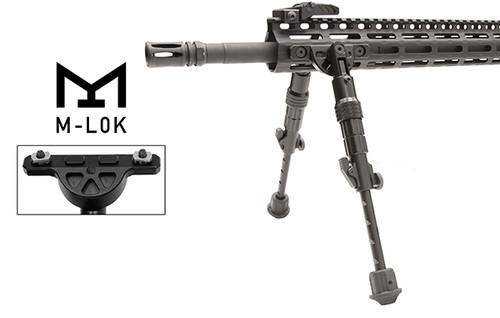 "TL-BPDM01 UTG® RECON FLEX® M-LOK® Bipod, Matte Black, 5.7""-8"" Center Height (LEAPKD_TL-BPDM01)"