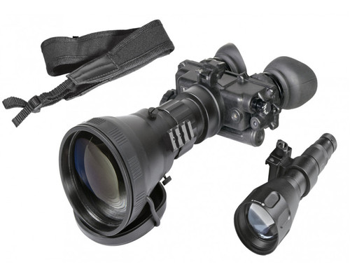 "AGM FoxBat-LE6 NL1 Night Vision Bi-Ocular 5.6x Gen 2+ ""Level 1"" with Sioux850 Long-Range Infrared Illuminator (AGM FoxBat-LE6 NL1)"