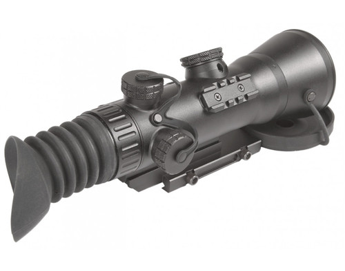 "AGM Wolverine-4 NL2 Night Vision Rifle Scope 4x Gen 2+ ""Level 2"" with Sioux850 Long-Range Infrared Illuminator (AGM Wolverine-4 NL2)"