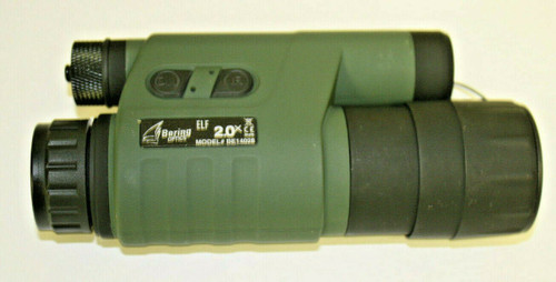 Bering Optics ELF2 Gen 1 Compact Monocular with Built in IR OD Green Body NVDs