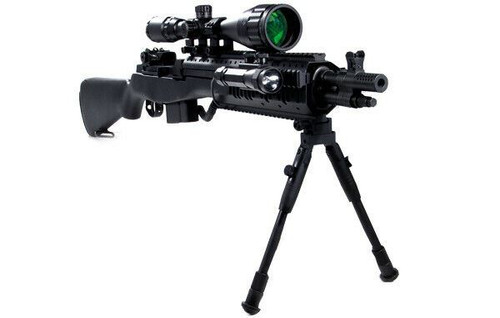 "UTG New Gen High-pro Shooters Bipod, Rubber Feet, 8.7""-10.6"" TL-BP69S"