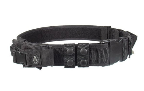 UTG Law Enforcement and Security Duty Belt, Black PVC-B950-A