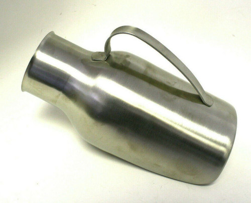 NEW IN BOX STAINLESS STEEL MALE PATIENT URINAL WITH HANDLE 1.75 QUART