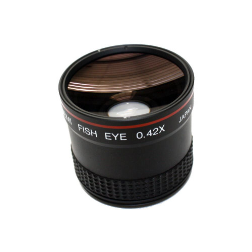 ITT Night Vision Hi-Resolution Semi Fish Eye 0.42X Wide Angle Lens Needs Adapter