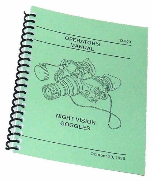 AN/PVS-7B AN/PVS-7D Night Vision Goggles (NVGs) Operator's Manual, NEW