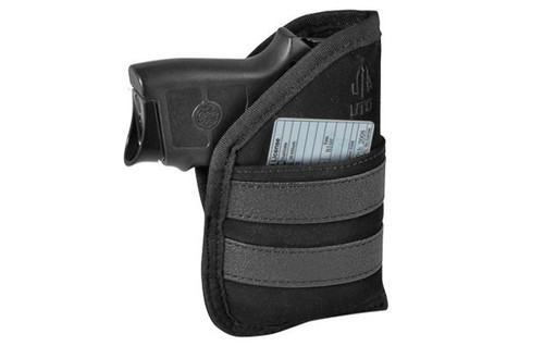 "UTG 3.9"" Ambidextrous Pocket Holster, Black PVC-HP39"
