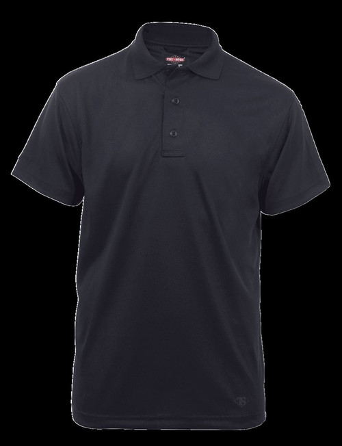 24-7 Series® MEN'S SHORT SLEEVE PERFORMANCE POLO Style #4336 BLACK SMALL REGULAR
