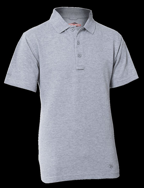 TRU-SPEC 24-7 Series® MEN'S ORIGINAL SHORT SLEEVE POLO Style CLASSIC GREY SMALL