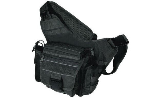 UTG Multi-functional Tactical Messenger Bag, Black PVC-P218B