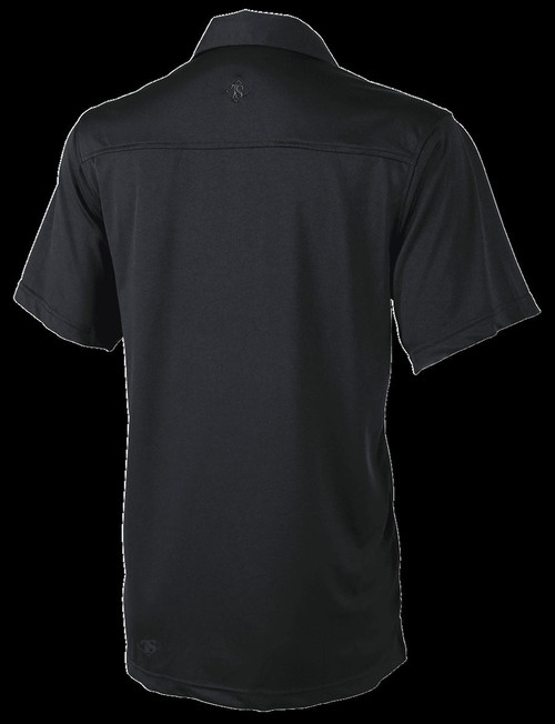 Tru-Spec 1456 24-7 Series Eco Tec Knit Camp Shirt +30 UV Protection, Black MED