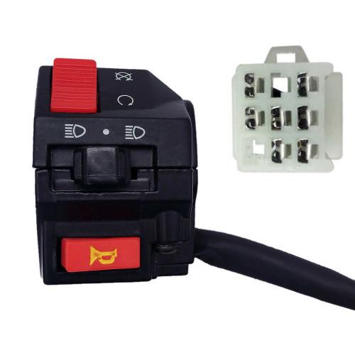 Handlebar Starter Switch 7 Wire LH 100cc-250cc Kazuma Falcon Panda Cougar ATVs