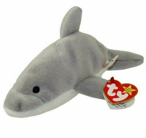 TY Beanie Baby - FLASH the Dolphin (4th Gen hang tag) (7.5 inch) - MWMTs