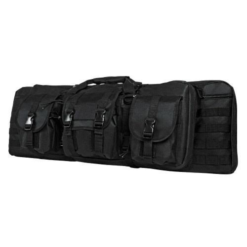 NcSTAR CVDC2946B-36 Tactical Double Rifle Case Black 36 inch long Padded Molle