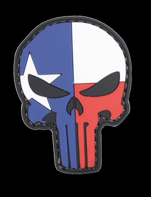 "Five Star Gear PVC Morale Patch Style 6655 TEXAS PUNISHER size 1.75"" x 2.25"""