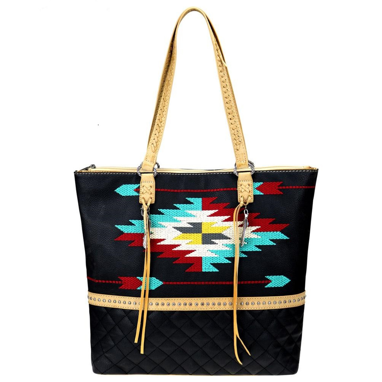 1367a469f0a42 Montana West Native American Aztec Embroidered Tote Bag