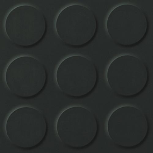 Polyflor SaarFloor Noppe Rubber Floor Tiles Anthracite 102
