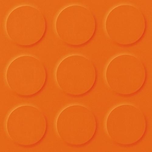 Polyflor SaarFloor Noppe Rubber Floor Tiles Orange 010