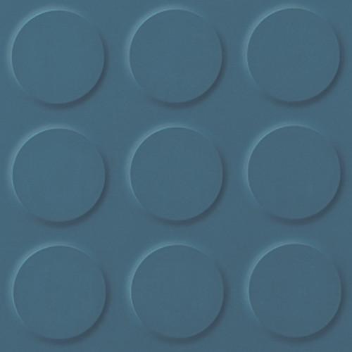 Polyflor SaarFloor Noppe Rubber Floor Tiles Cool Blue 707