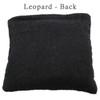 Leopard Plush Fabric Design Cat Nip Pillow - Back