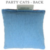 Party Cat Fabric Design Cat Nip Pillow - Back
