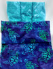 Lumbar Pack is Designed for Use on the Upper, Mid, or Lower Back and Hips - Batik Turtle Fabric