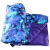 5 LBS, 7 LBS, 10 LBS, 15 LBS Weighted Washable Body Blankets Galaxy Cotton with Purple Flannel Back Finish
