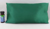 Green Satin Sleepy Time Pillow - Lavender Throw Pillow by Grampa's Garden