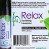 Relax Soothing Lavender Essential Oil Roller Ball by Grampa's Garden Made in Maine