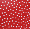 5 LB Red Dot Laminate Cotton Weighted Washable Body Blanket