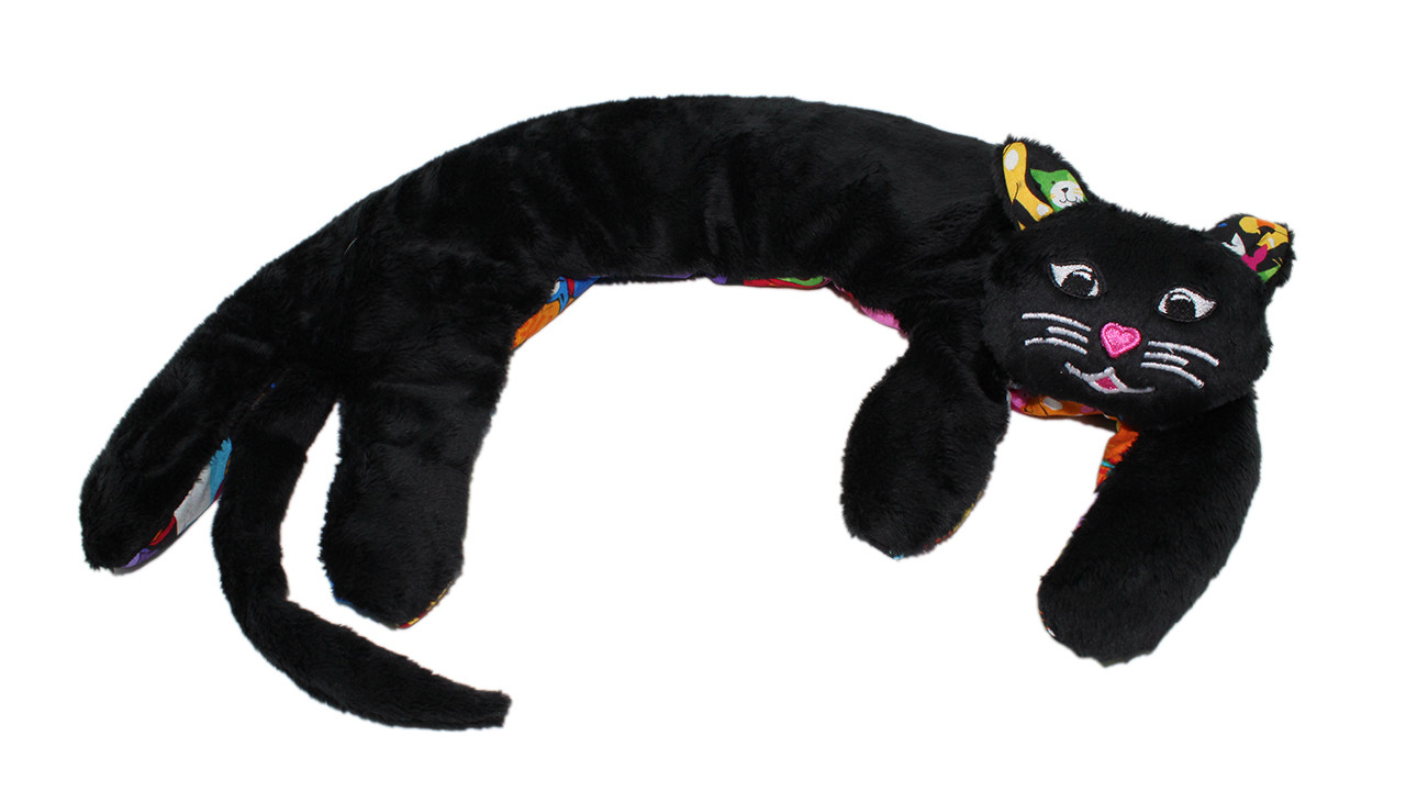 Kitty Kuddles - Black with Happy Cats Belly and Ears