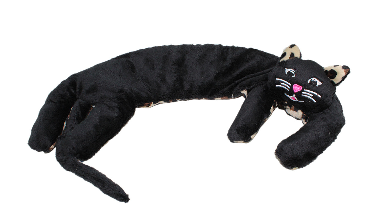 Kitty Kuddles - Black with Leopard Belly and Ears