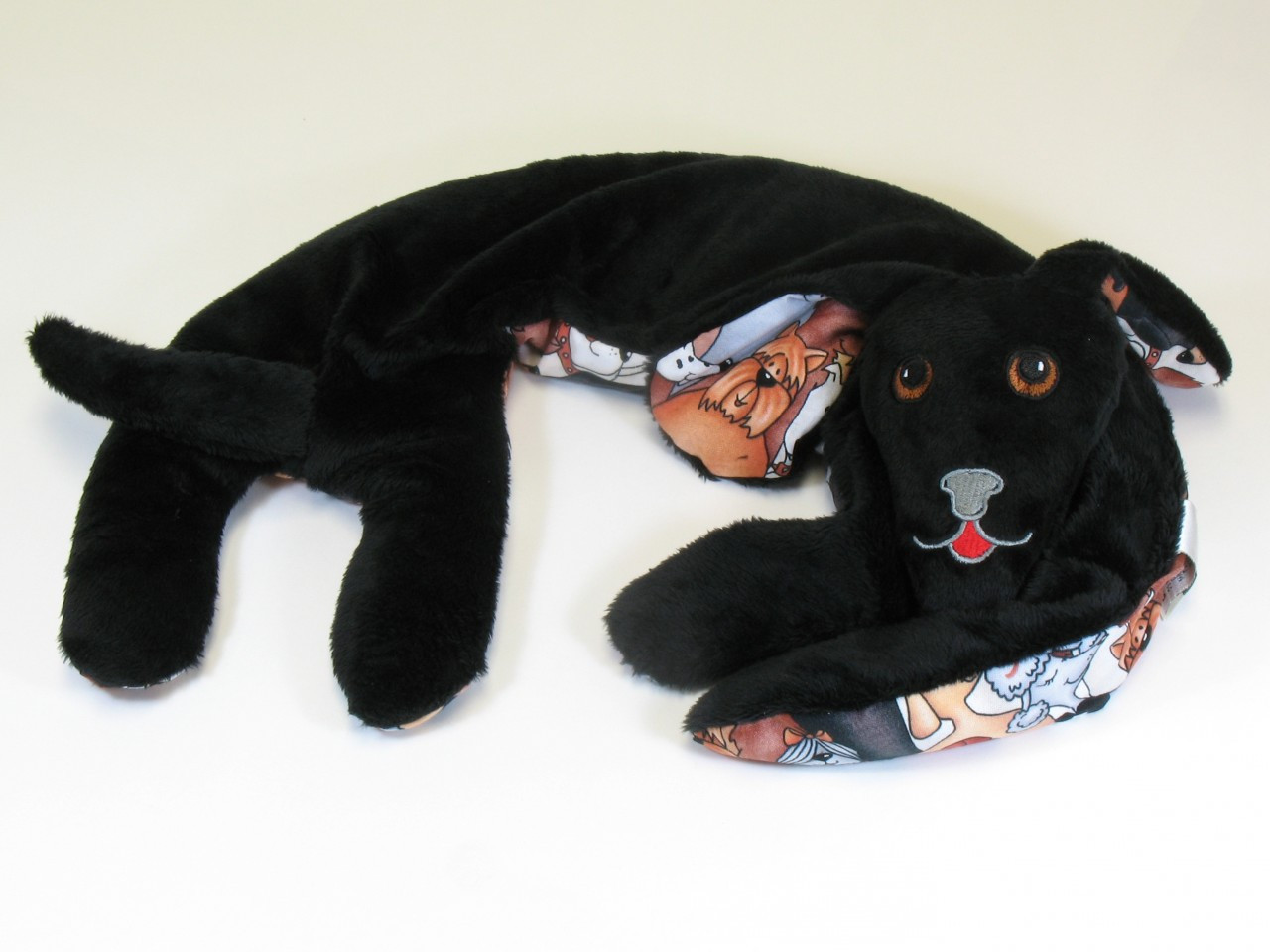 Neck Wrap Black Puppy Hug for Hot or Cold Therapy