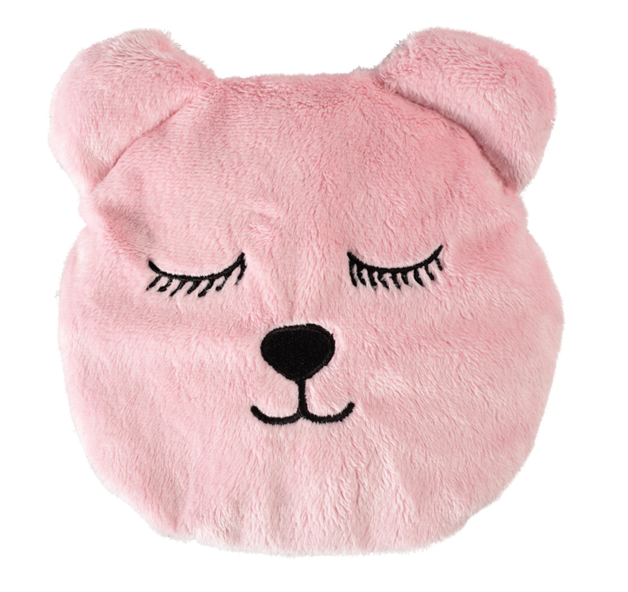 Pink Fluff Teddy Pack Eyes Closed - Heatable, Washable