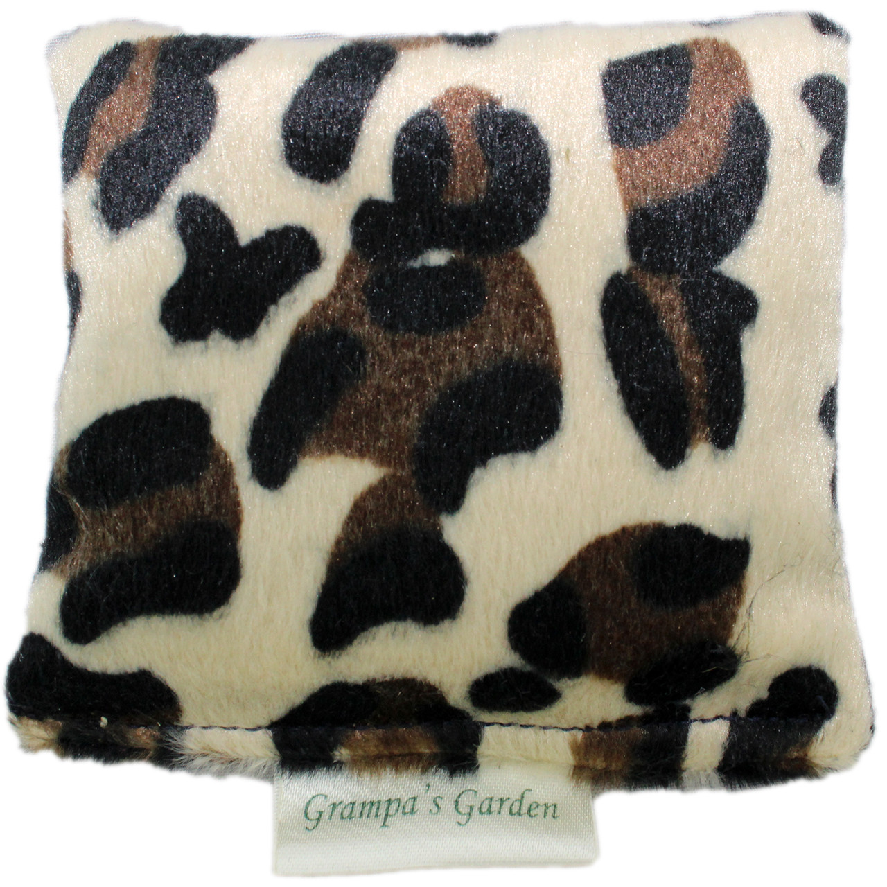 Leopard Plush Fabric Design Cat Nip Pillow - Front