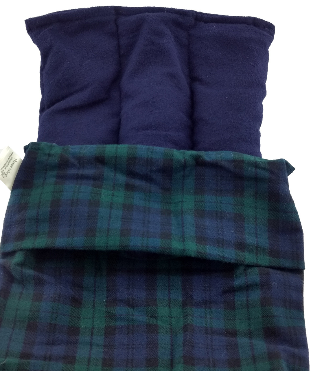 Lumbar Pack is Designed for Use on the Upper, Mid, or Lower Back and Hips - Black Watch Flannel Fabric